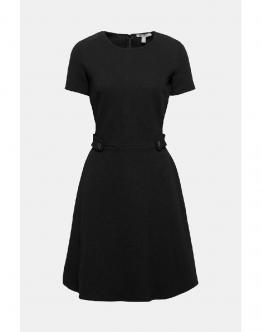 ESPRIT Dress Abito Manica Corta Black Nero 089EE1E009 - Black