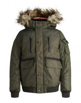 JACK & JONES Kids Bomber JuniorForest Night Verde 12158626 - Verde scuro