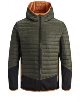 JACK & JONES Kids Multi Autumn Jacket Junior Forest Night Verde 12158633 - Verde