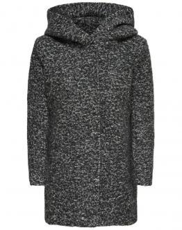 ONLY Sedona Boucle Wool Coat Dark Grey Melange Grigio Scuro 15156578 - Grey