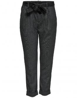 ONLY Rita Loose Belt Ank Pant Dark Grey Melange Grigio Scuro 15162997 - Grigio scuro