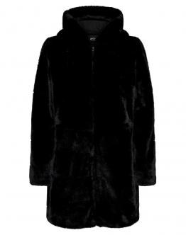 ONLY Chris Fur Hooded Coat Giacca Pelliccia Sintetica Black Nero 15180328 - Nero