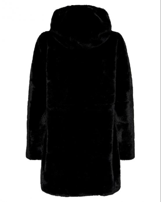 ONLY Chris Fur Hooded Coat Giacca Pelliccia Sintetica Black Nero 15180328 - Nero