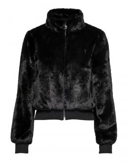 ONLY Laura Faux Fur Bomber Giacca Black Nero 15180348 - Nero