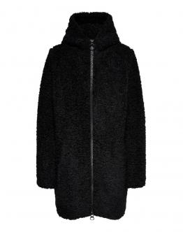 ONLY Terry Curly Fur Hood Giacca Black Nero 15182544 - Nero