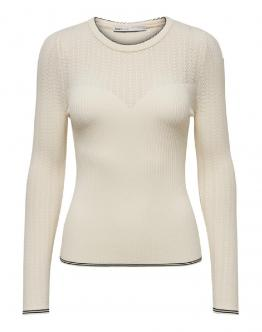 ONLY Coco Pullover Knit Maglia Antique White Bianco 15191992 - Bianca