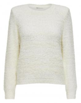ONLY Lua Pads Pullover Maglia Clud Dancer Bianco 15204916 - Bianca