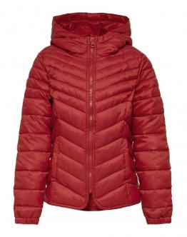 ONLY Kids Demi Hooden Nylon Jacket Goji Berry Rosso 15183158 - Rossa