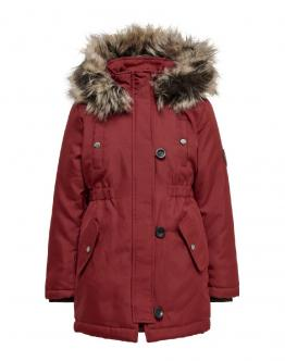 ONLY KIDS Iris Fur Parka Merlot Bordeaux 15183159 - Bordeau
