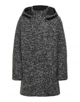 ONLY KIDS Sedona Boucle Wool Coat Cappotto Lana Dark Grey Melange Grigio Scuro 15183161 - Grigio scuro