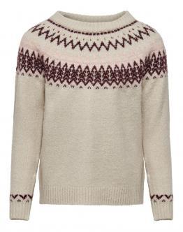 ONLY KIDS Konella Pullover Knit Maglia White JRS 15186888 - Beige