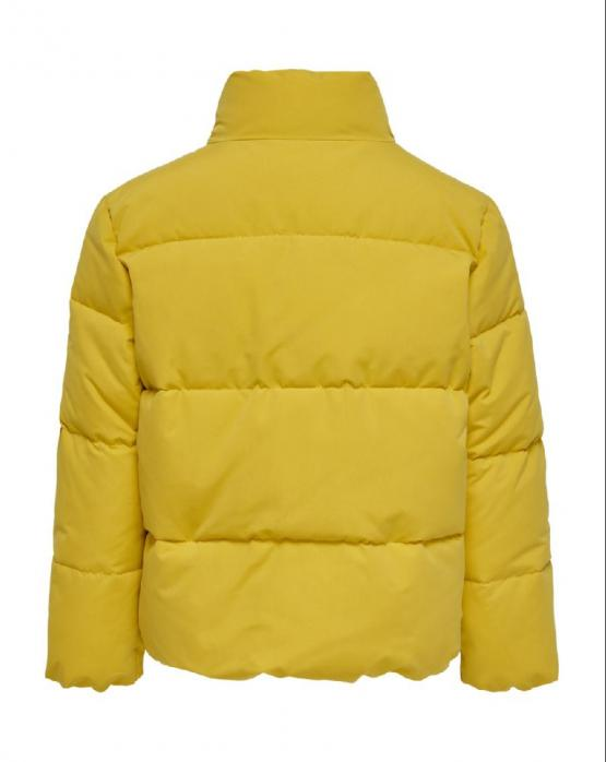 ONLY KIDS Dina Short Quilted Puffer Giacca Sulphuer Giallo 15188799 - Giallo