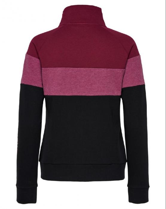 ONLY PLAY Aeries Zip High Brushed Sweat Felpa Beet Red Rosso Barbabietola 15175555 - Rossa