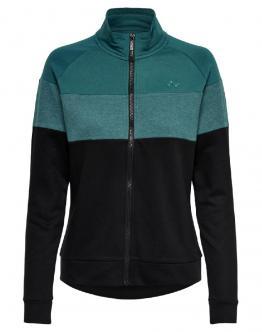 ONLY PLAY Aeries Zip High Brushed Sweat Felpa Shaded Verde 15175555 - Verde