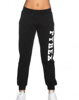 PYREX Pantalone di Tuta con Molla Big Logo Laterale Nero 20IPB40004 - Nero