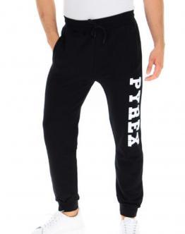PYREX Pantalone di Tuta con Molla Big Logo Laterale Nero 20IPB40352 - Nero