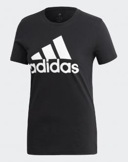 ADIDAS T-Shirt W Bos Co Tee Big Logo Nera FQ3237 - Nero