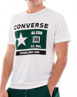 CONVERSE T-Shirt All Star Bianca 10021323281 - Verde